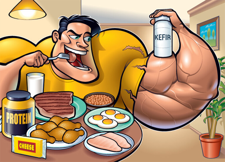 Кефир. Употребление после упражнений